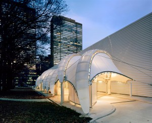 A tensile fabric structure