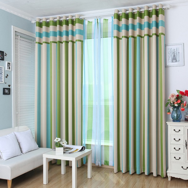 Striped curtains2