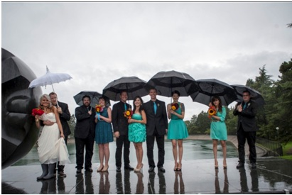 Dealing with bad weather weddings